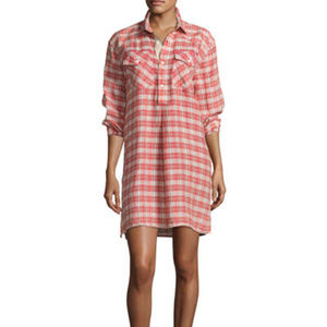 Current/Elliott 2 Levee Western Plaid Shirt Dress